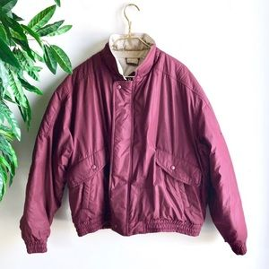Vintage Members Only • Cranberry Puffer Coat.